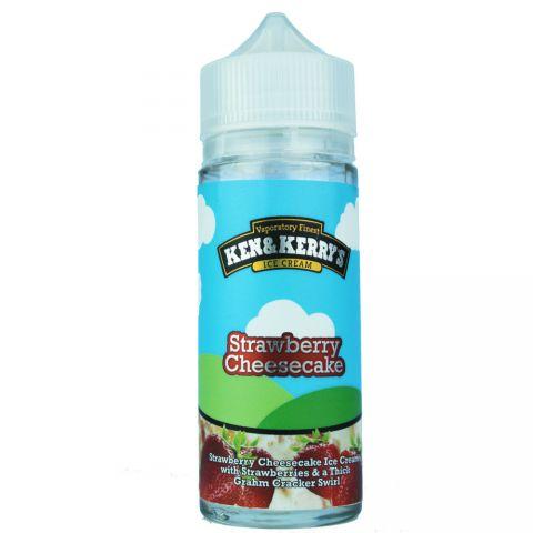 Ken & Kerry's Strawberry Cheesecake E-Liquid 120ml shortfill