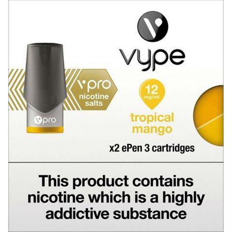 Vype Epen 3 Troical Mango 12mg Cartridges